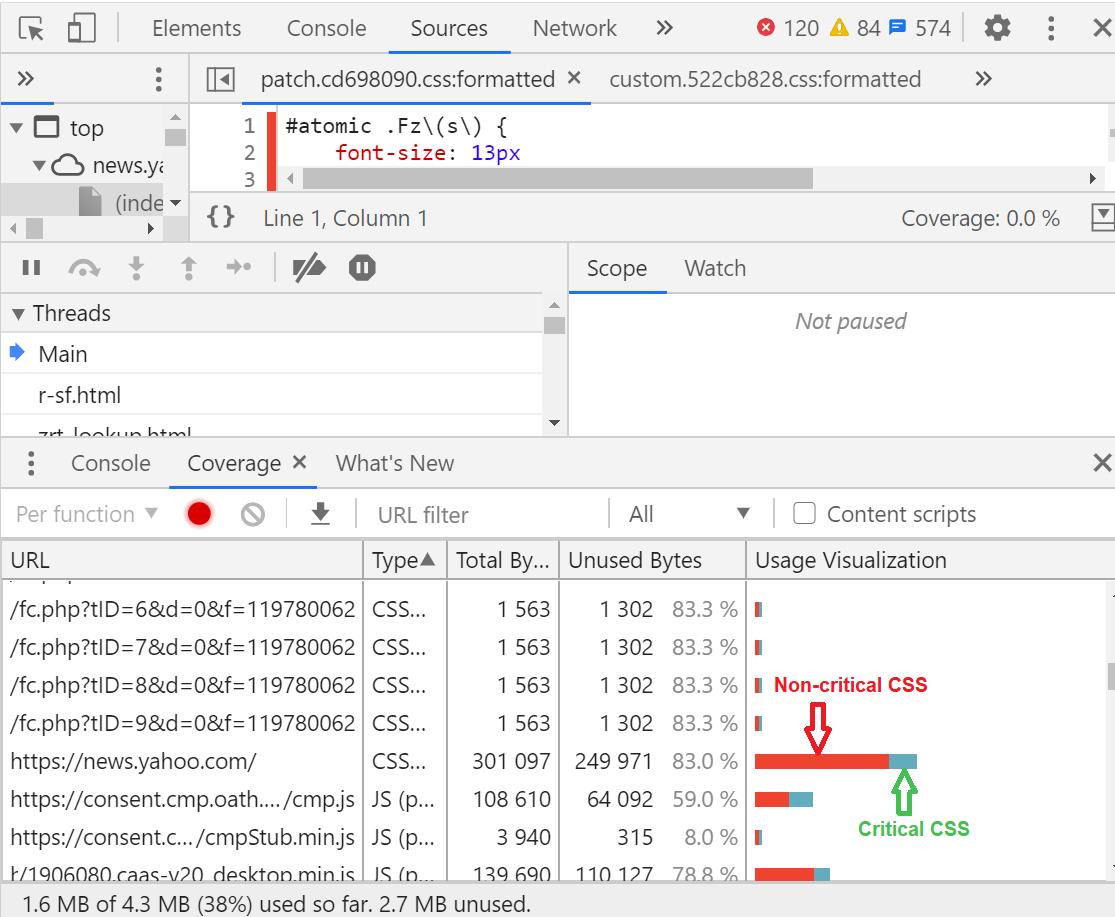 Coverage Audit in DevTools