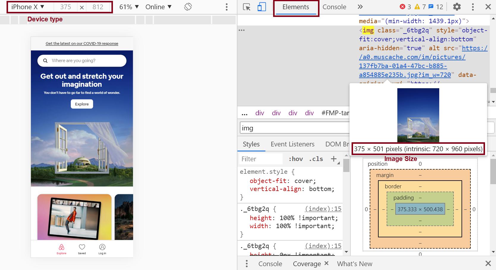 Elements Tab in DevTools