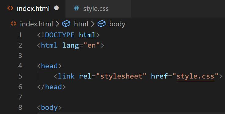 External CSS Example