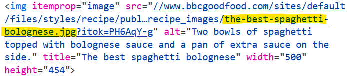 Bolognese Image File Name