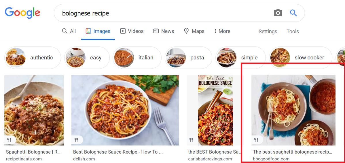 Bolognese Picture Google Images Example