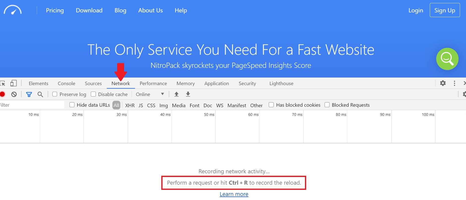 Network request analyzer in DevTools
